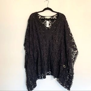 Lovestitch Boutique Black Lace Swim Suit Cover Up